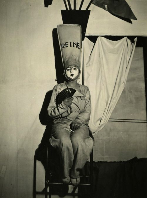 """Claude Cahun, Solange Roussot in """"Barbe Bleue"""", 1929"""