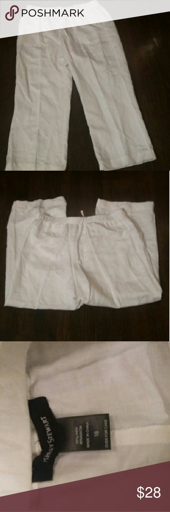 Ashley Stewart linen pants Like Ashley Stewart linen pants. They are in almost new condition. Ashley Stewart Pants Trousers
