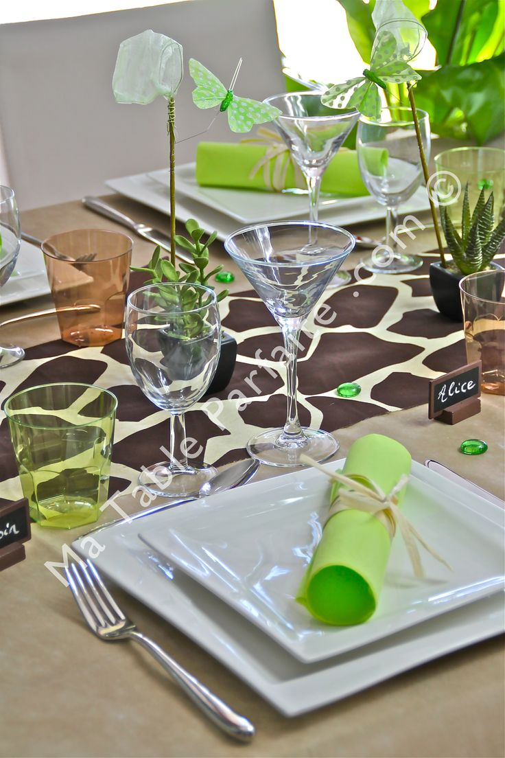 114 best deco de table vert blanc images on