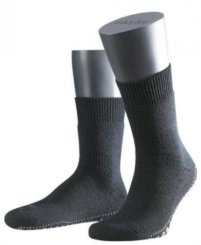 Women's Socks - Falke Acrylic / Wool Homepads - Black @ www.kjbeckett.com