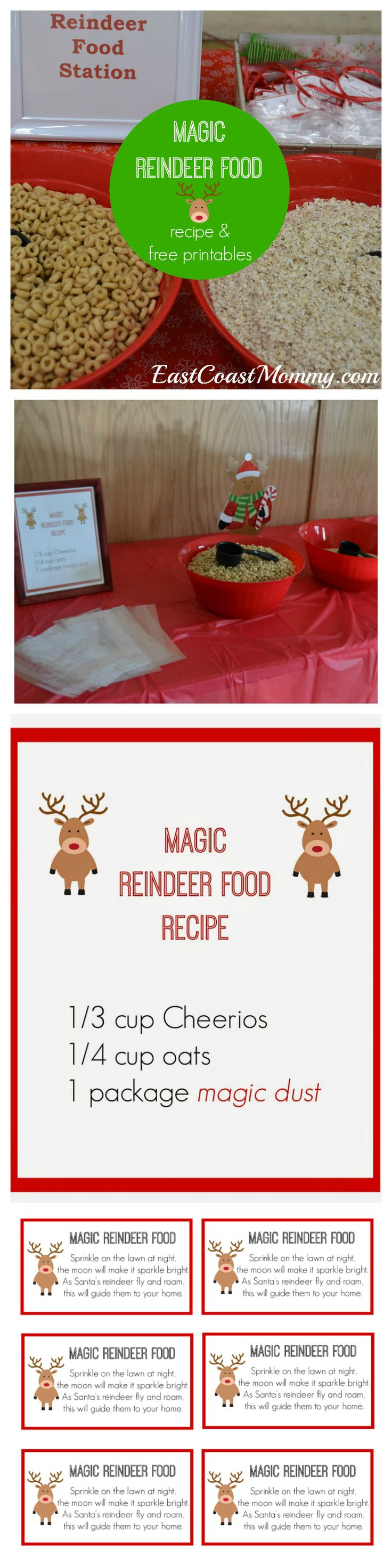 Making magic reindeer food is a fantastic Christmas activity, and the free printables on this website are adorable!