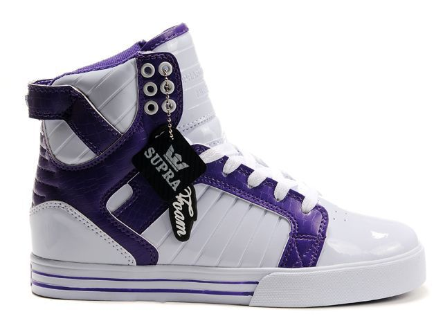 Sale Supra Skytop Womens White Purple Shoes
