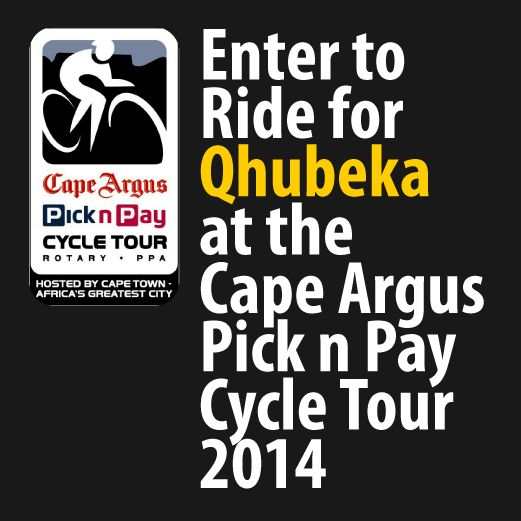 Enter to ride for Qhubeka at the Cape Argus Pick n Pay Cycle tour 2014