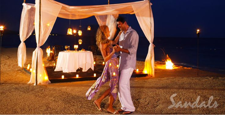 A little candlelight, dinner, soft music and dancing. | Sandals Resorts | Jamaica