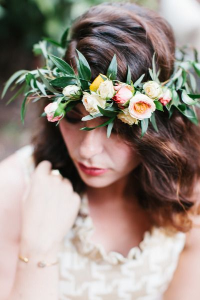 Spray rose flower crown: http://www.stylemepretty.com/washington-dc-weddings/2015/06/15/bright-colorful-d-c-bridal-shower/ | Photography: Megan Chase - http://meganchasephotography.com/