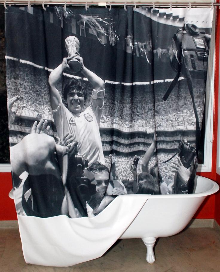 Cortina de baño DIEGO! Lavable! La podes planchar! Tela 100% poliester!