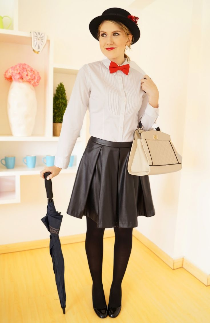 how to mary poppins costume fashion pinterest kost m ideen kost m und fasching. Black Bedroom Furniture Sets. Home Design Ideas