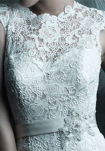 Wedding   Dress. C226 by Allure Couture, beautiful lace top!