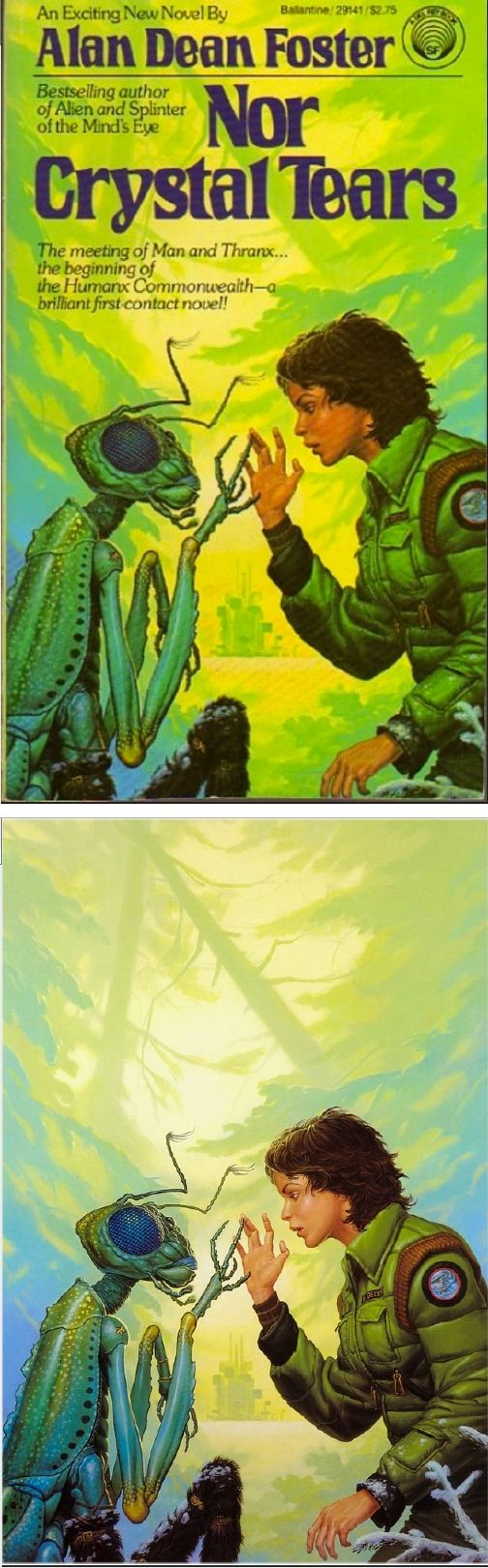 MICHAEL WHELAN - Nor Crystal Tears by Alan Dean Foster - 1982 Del Rey / Ballantine - cover by isfdb - print by michaelwhelan.com
