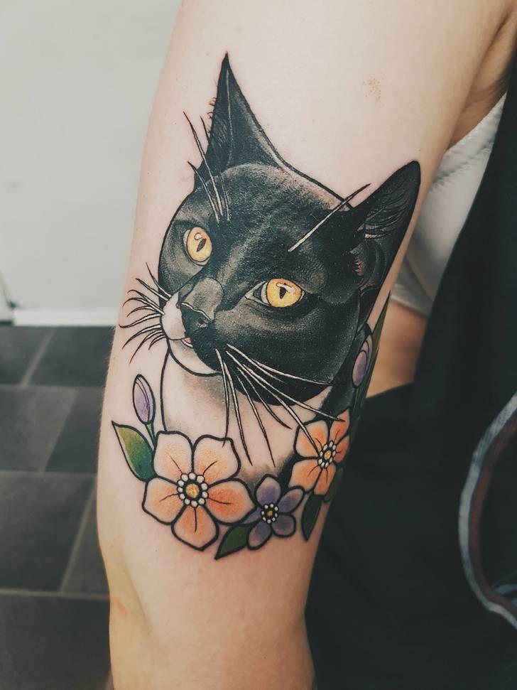 I got my cat tattooed on my arm today! Done by Marielle @ BLEKK, Oslo
