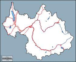 Savoie: carte géographique gratuite, carte géographique muette gratuite, carte vierge gratuite, fond de carte gratuit : contours, hydrographie, principales villes (blanc)