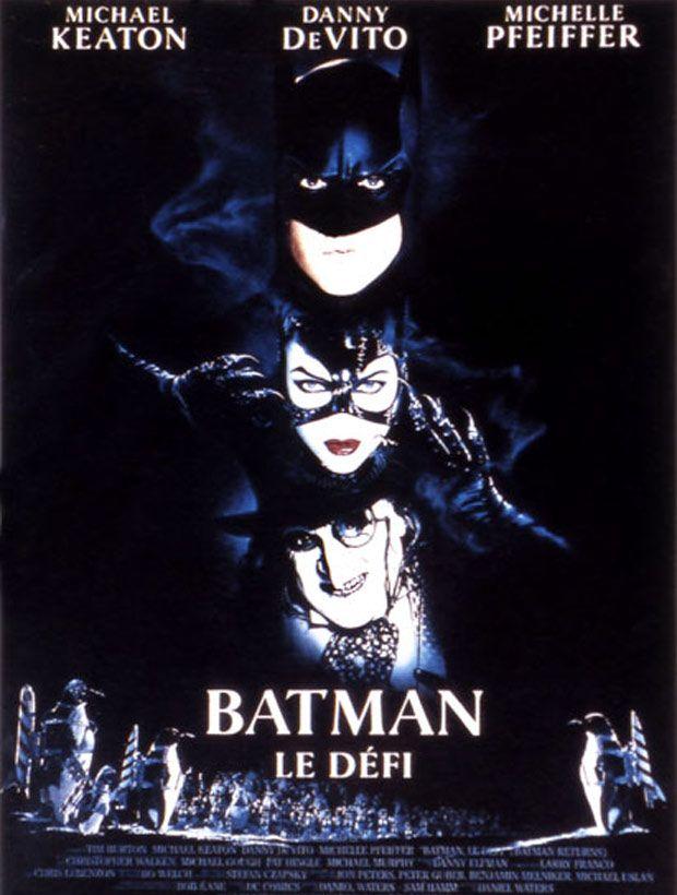 Batman, le défi est un film de Tim Burton avec Michael Keaton, Michelle Pfeiffer. Synopsis : Non seulement Batman doit affronter le Pingouin, monstre génétique doté d'une intelligence à toute épreuve, qui sème la terreur mais, plus difficile e