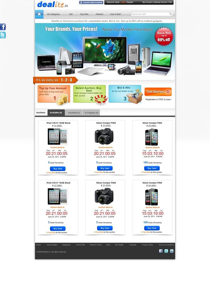 Win it or Buy it - Dealite - Worlds snazziest Rupee Auction portal