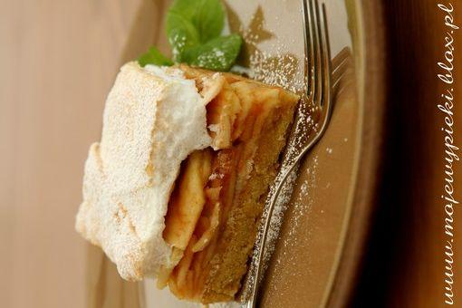 apple cake with foam