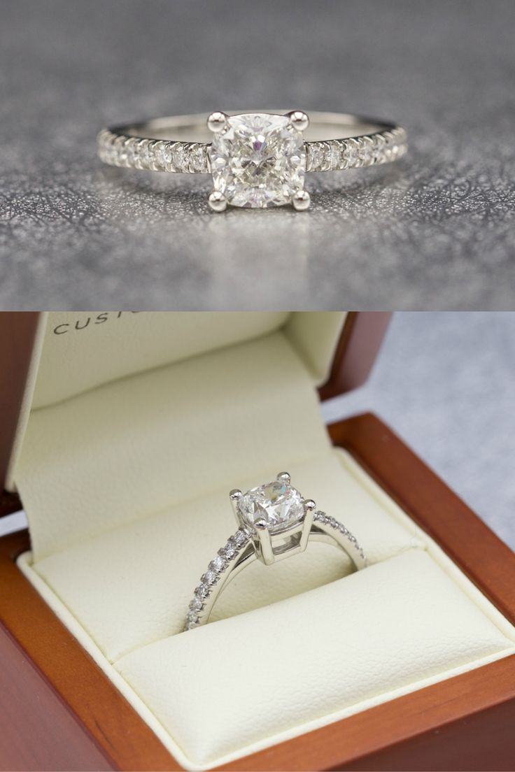 This Beautiful Engagement Ring Features A Clean, Contemporary Take On A  Timeless Design Diamond