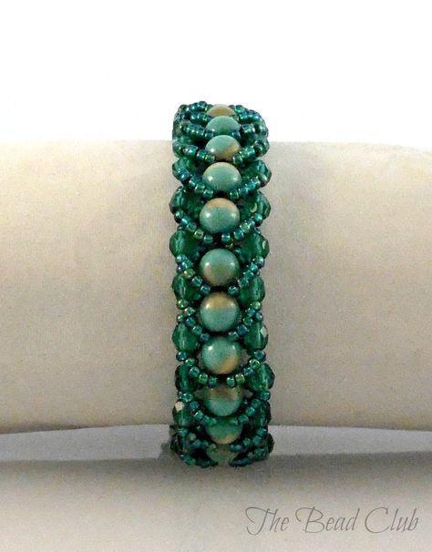 Easy Single- row Flat Spiral Stitch Bracelet ~ Seed Bead Tutorials