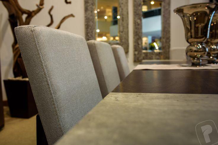 Detalles.  Mesa rect. 62967, silla Dubai 63215  Colección Loft. #PlacenciaMuebles