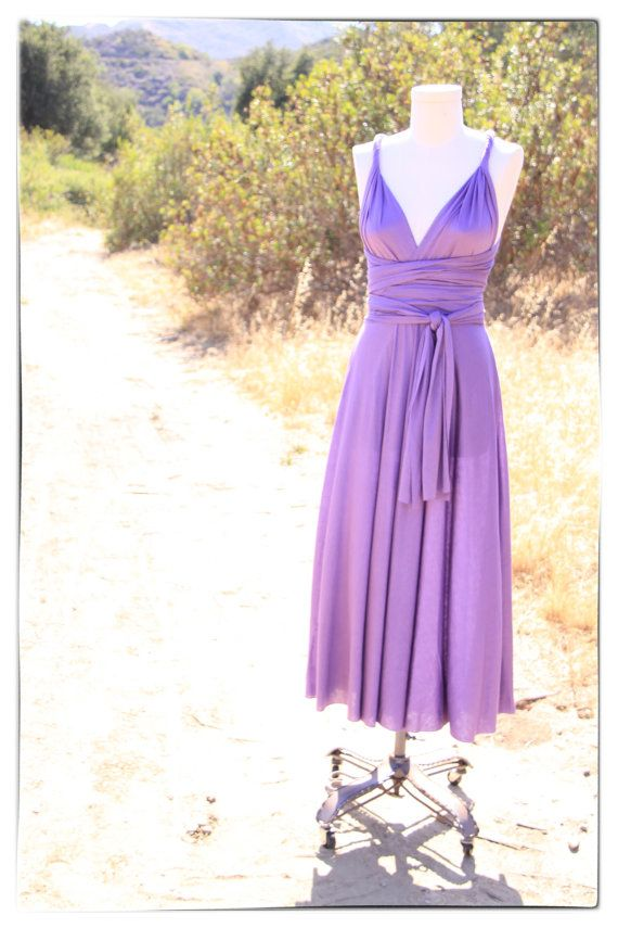 Goddess Wrap Dress in Lilac Purple Violet Maxi by houseofholt, $80.00