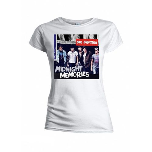 t-shirt one direction blanc midnight memories cover femme - 24.99€ - #Logostore