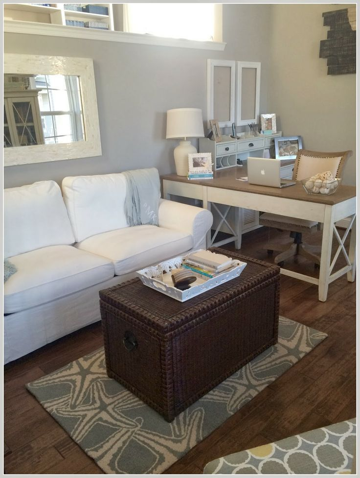 Calm & Cozy Office with touches of beach decor