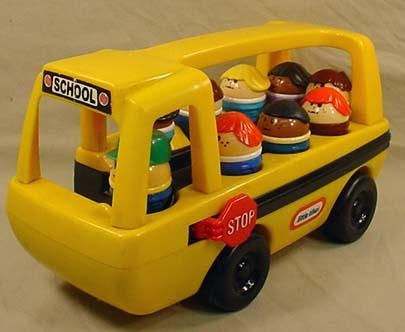 Little Tikes school bus with the little people.   80s & 90s love ...