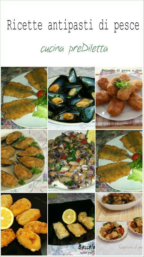 Antipasti di pesce, ricette, cucina preDiletta