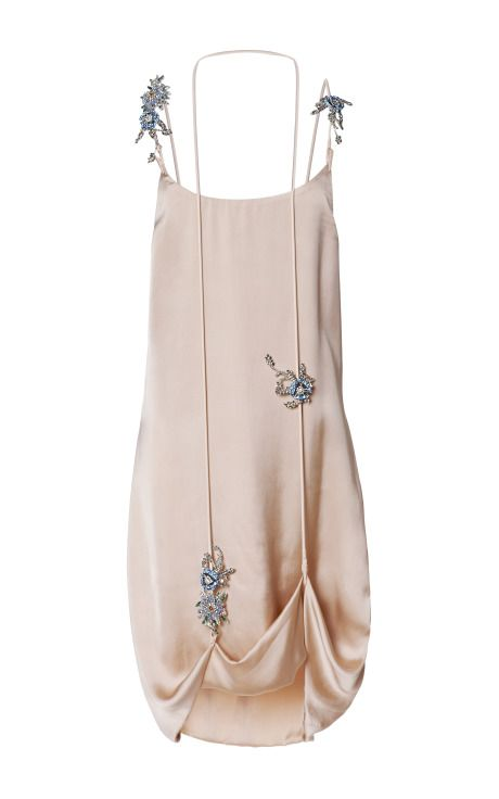 Double Croc Lift Hem Gems Cami Dress by Christopher Kane for Preorder on Moda Operandi