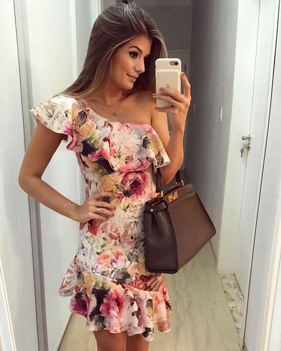 Vestidos estampados largos modernos