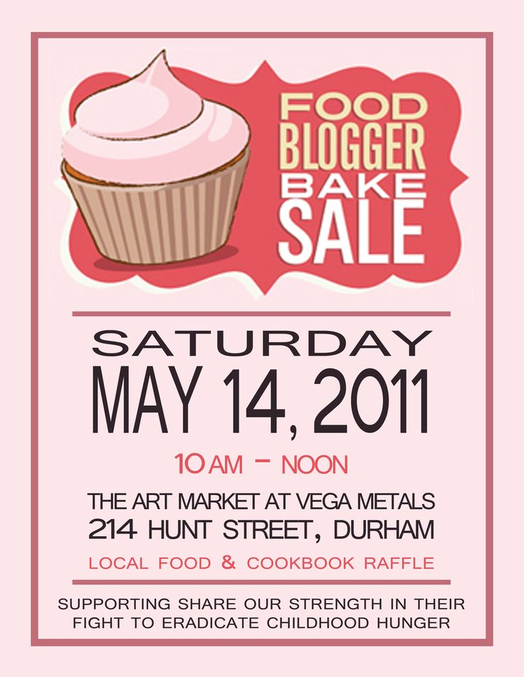 Download This Bake Sale Flyer Template And Other Free Printables