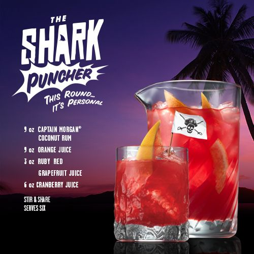 Captain Morgan Rum | Shark puncher. I have to make this just for the name! (summer rum drinks captain morgan)