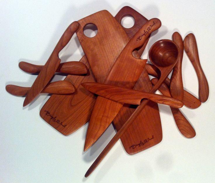 Cherry kitchen utensils