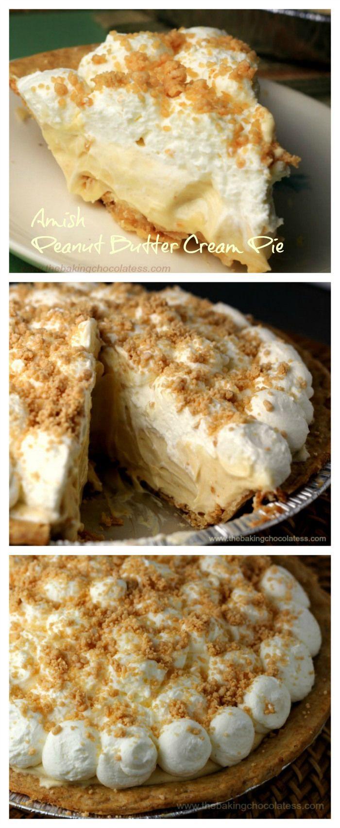 Amish Peanut Butter Cream Pie – The Baking ChocolaTess