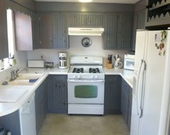 The Old Kitchen Cabinets Would Look Nice Painted This Color And Matched With White Appliances Like