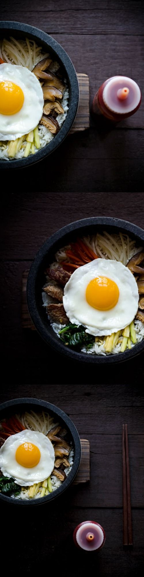 Looking for the perfect comfort food recipe? Look no further than this Korean classic, Dolsot Bibimbap. It's a mixture of rice, vegetables and beef with a fried egg on top.