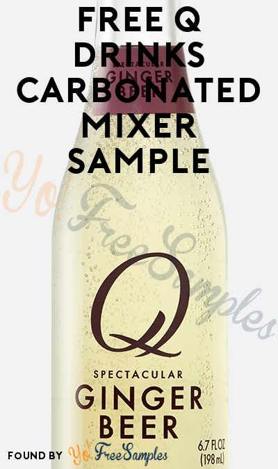 free q drinks carbonated mixer sample free stuff coupons offers