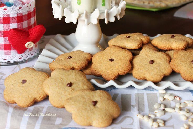 Biscotti con farina di farro integrale e di riso