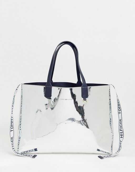 e86f4706 Tommy Hilfiger metallic tote bag with detachable ladies' wallet & logo tape