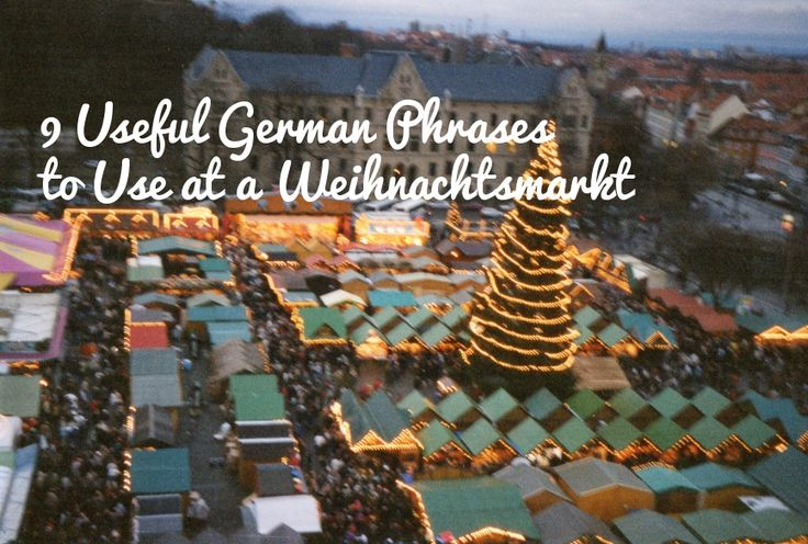 If you're lucky enough to be making a trip to a German Christmas Market (Weihnachtsmarkt) over the next month, chances are you'll meet lots of natives who speak at least some basic English (over ha...