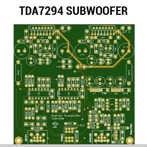 Tda7294 Subwoofer Amplifier Pcb Layout Subwoofer Amplifier Diy Amplifier Subwoofer