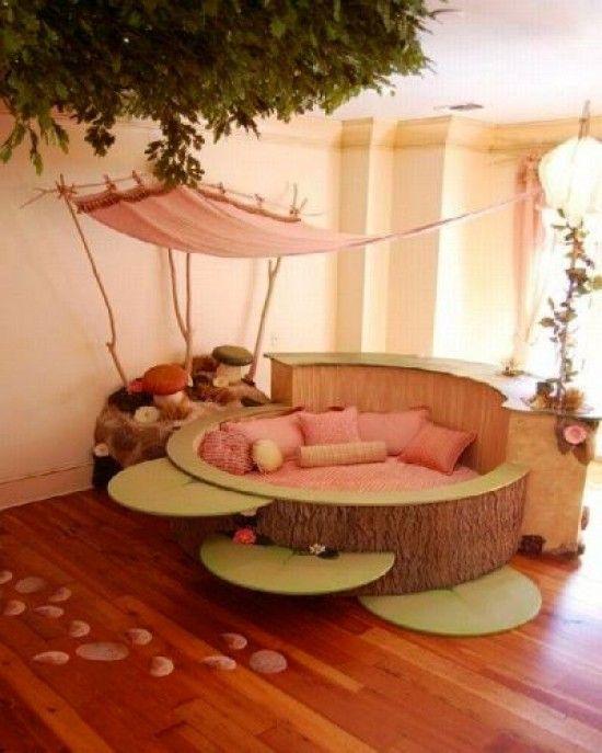 Sweet Round Kids Bed Design