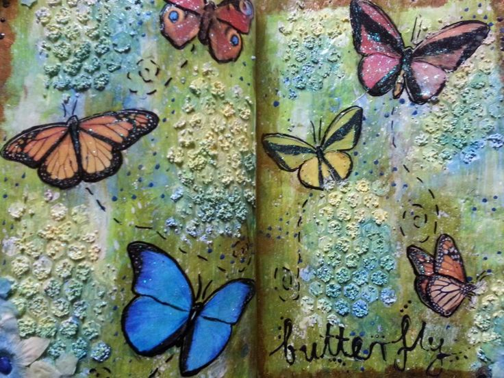 Butterfly art journal page