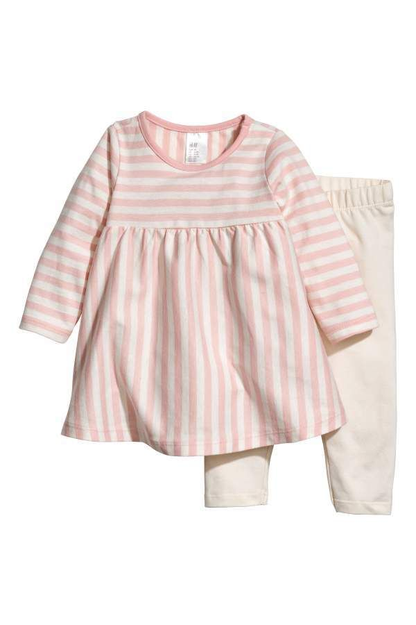 ad11f83b64aaa H&M Jersey Dress and Leggings | Baby Girl Apparel & Essentials ...