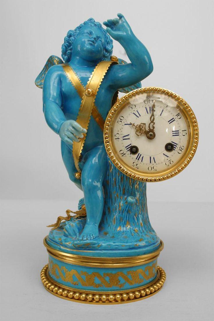 Sevres cupid clock. Sevres porcelain never fails to amaze me.
