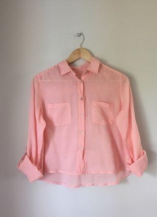 À vendre sur #vintedfrance ! http://www.vinted.fr/mode-femmes/blouses-and-chemises/19078082-chemise-corail-crop-top-mango