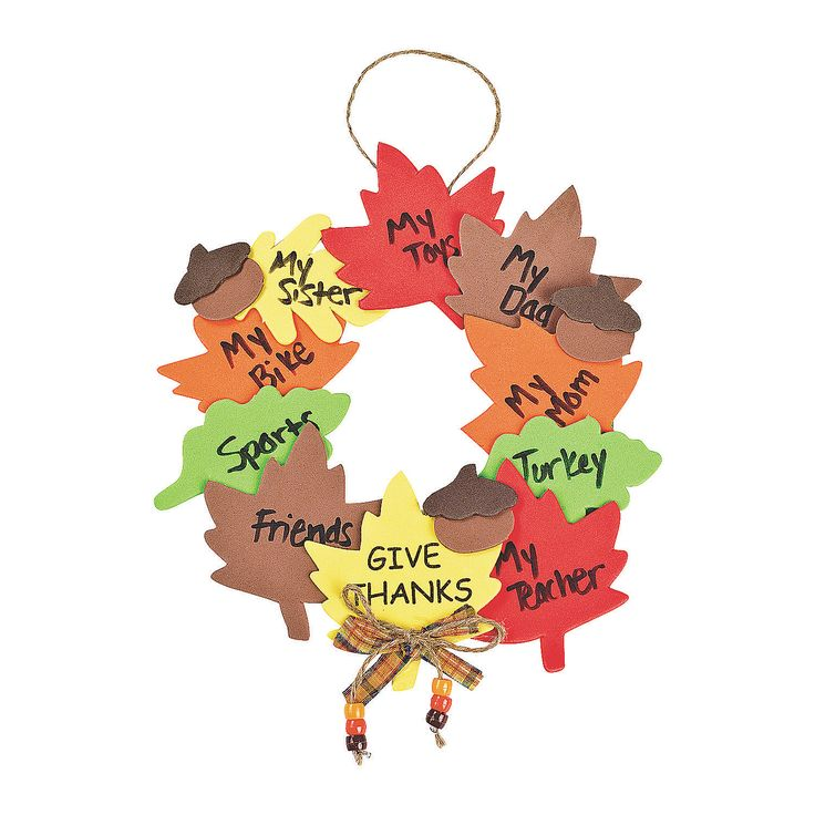 Wreath of Thanks Craft Kit - OrientalTrading.com