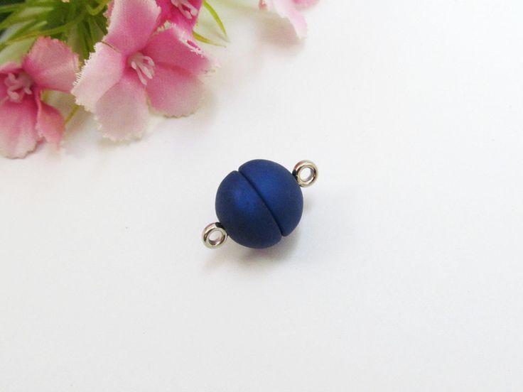 1 Polaris Magnetverschluss 12mm, Fb nachtblau von Schmuckes von der Perlenbraut auf DaWanda.com