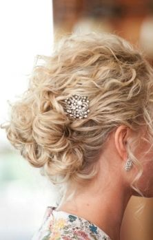 Updo curly