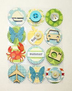 scrapbooking embellishment ideas - Buscar con Google