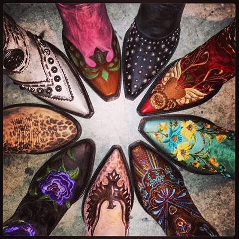Old Gringo Boots from RiverTrail Mercantile Ahhhhhh!!!!!!! Can I have them all?!?!?!