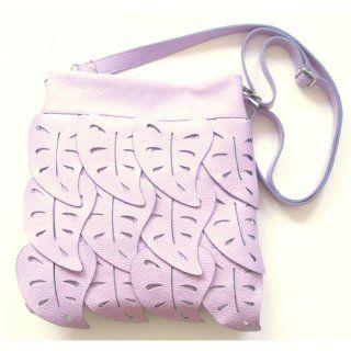 Echtleder-Handtasche pflaume